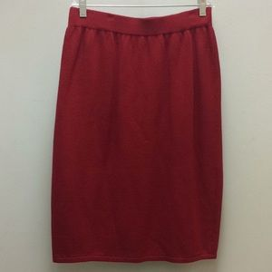 St. John Collection by Marie Gray knit skirt Red